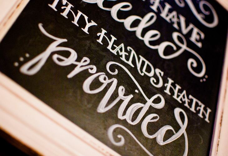 Great is Thy Faithfulness Chalkboard  | Corinne Karl