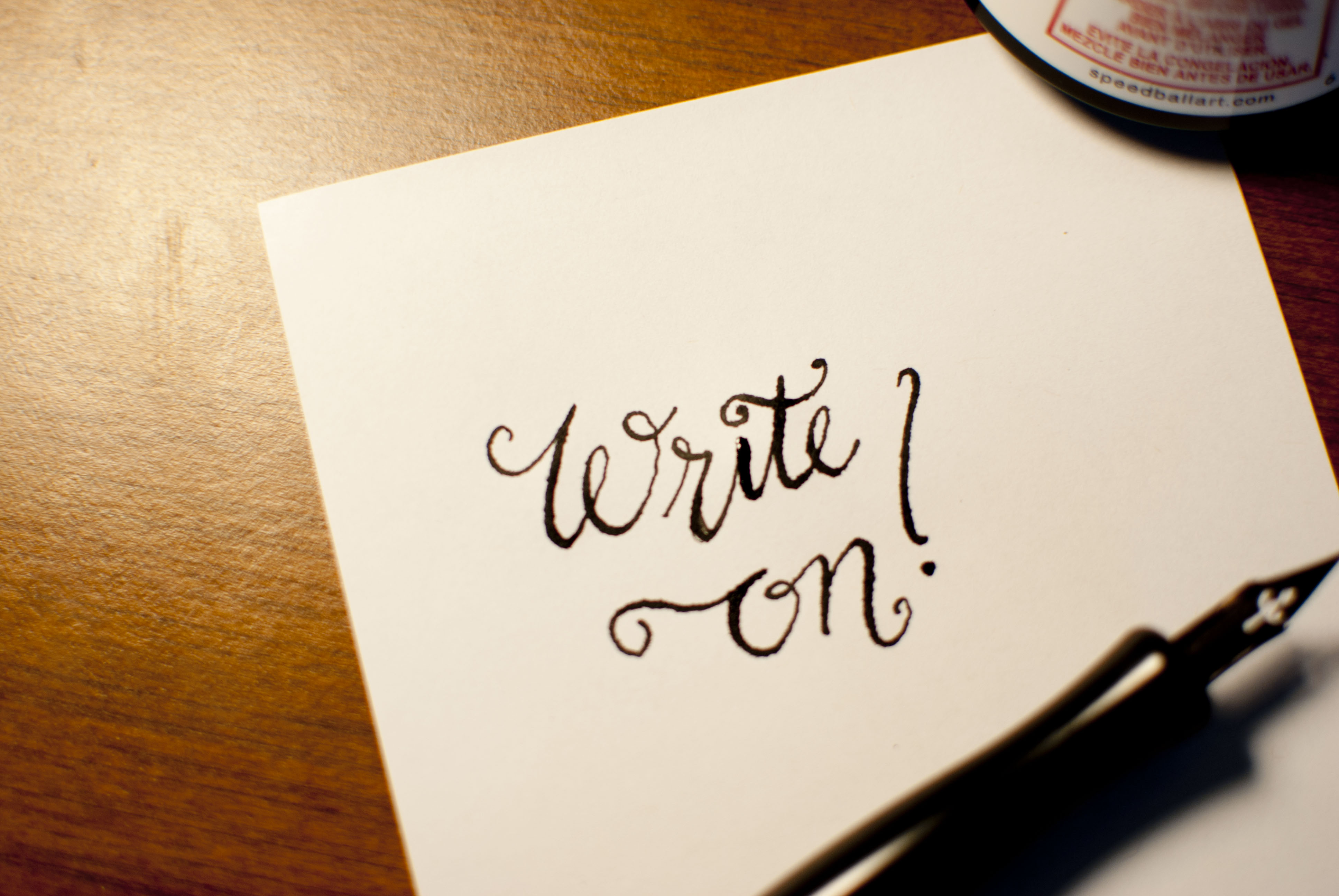 Newbie Adventures in Calligraphy —Corinne Karl