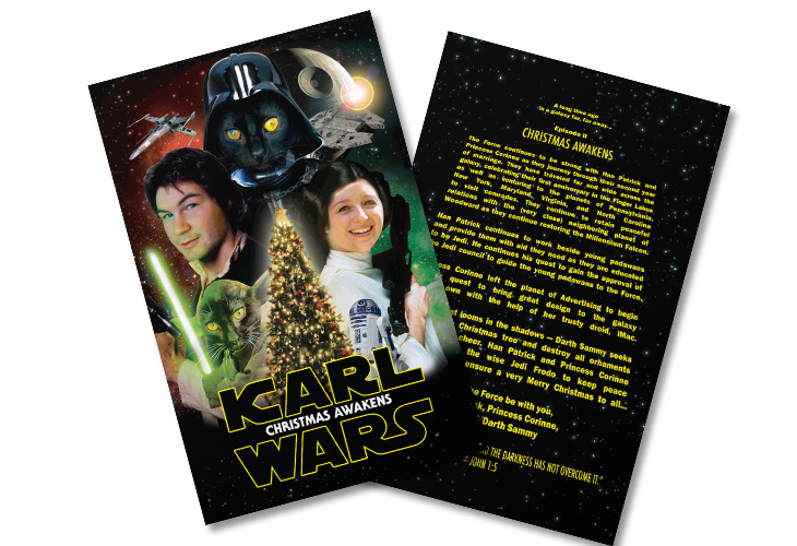 Star Wars, Christmas Card, Force Awakens