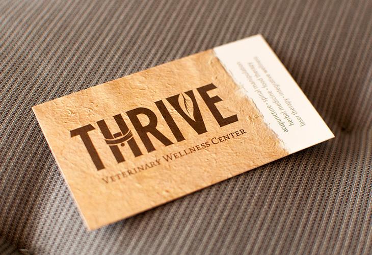 Thrive veterinary wellness center corinne karl logo holistic wellness center business card little silver new jersey reheart Choice Image