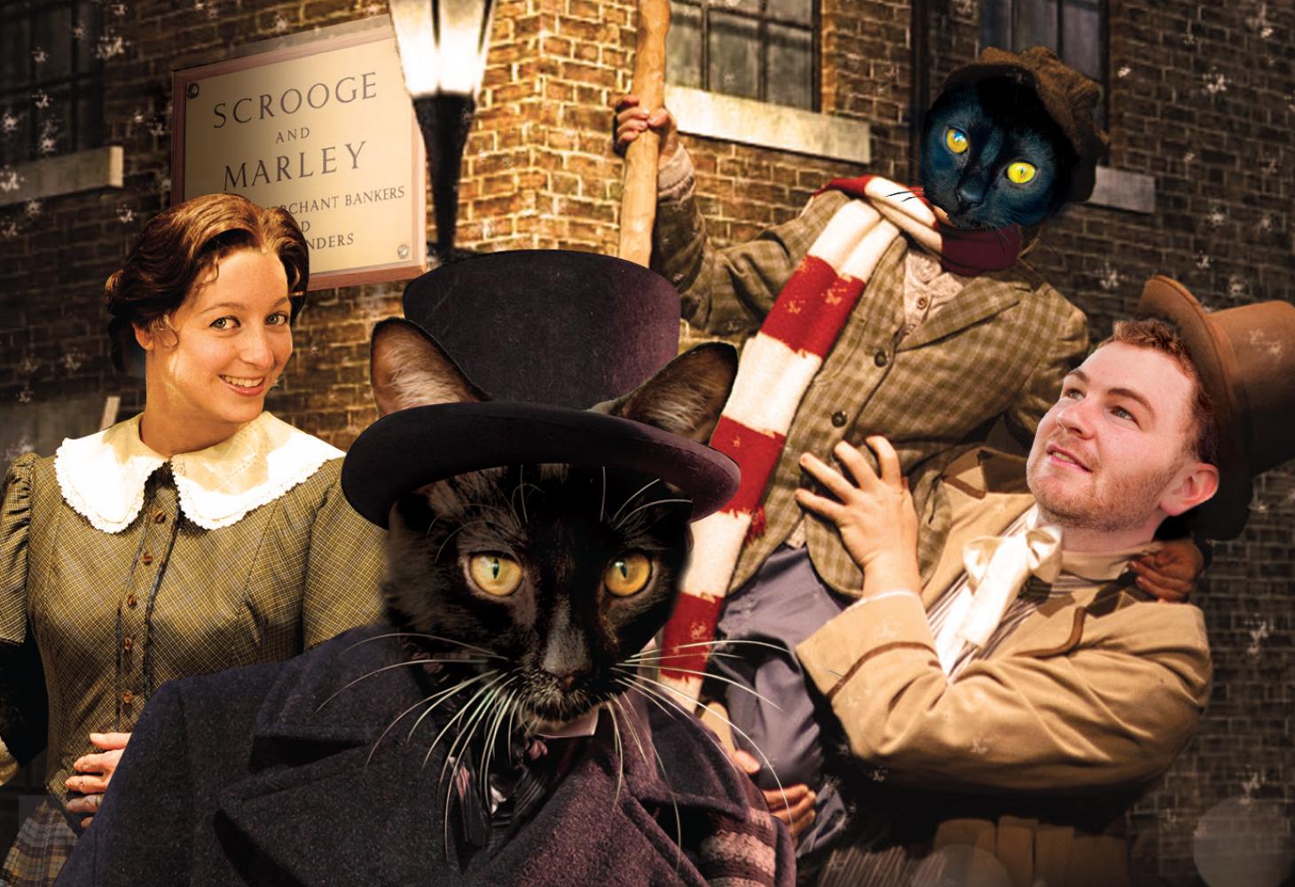 A Christmas Carol, Charles Dickens, Cat Christmas, Feline