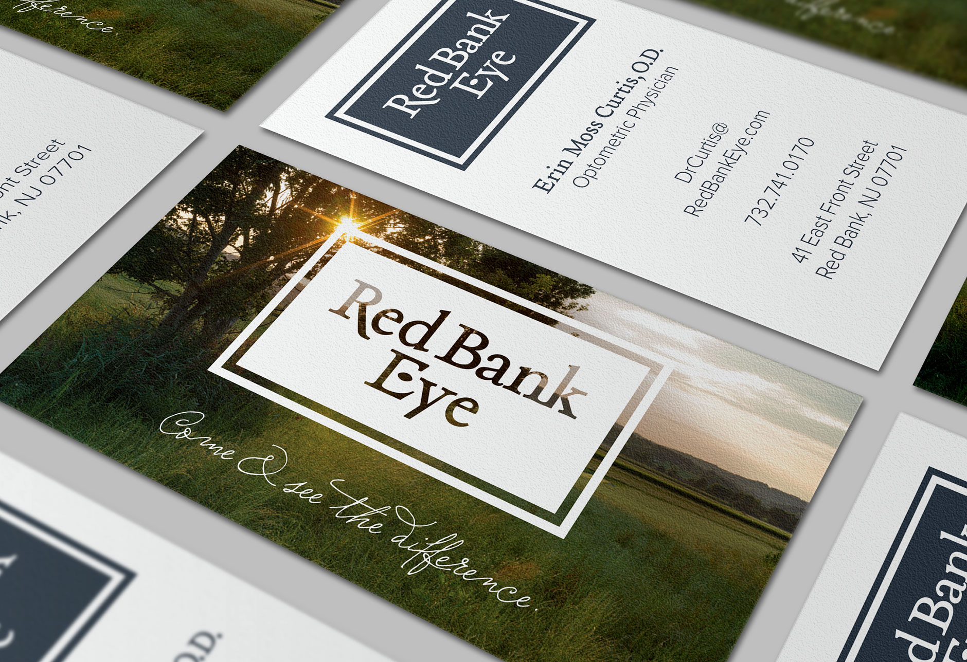 Red Bank eye doctor, Rebrand, Business Card