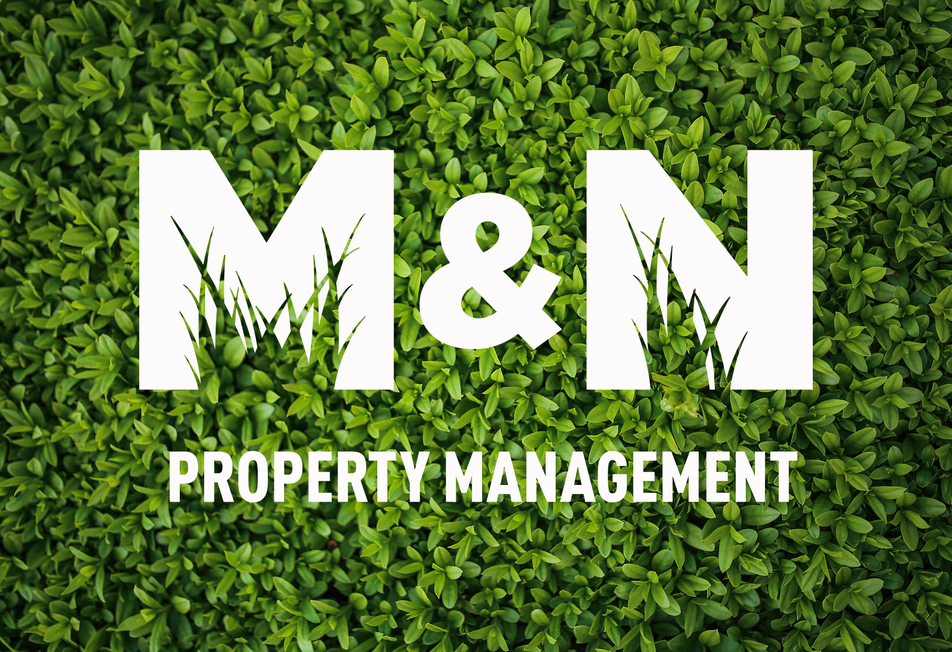 landscaping company logo, grass, negative space, New Jersey, two color