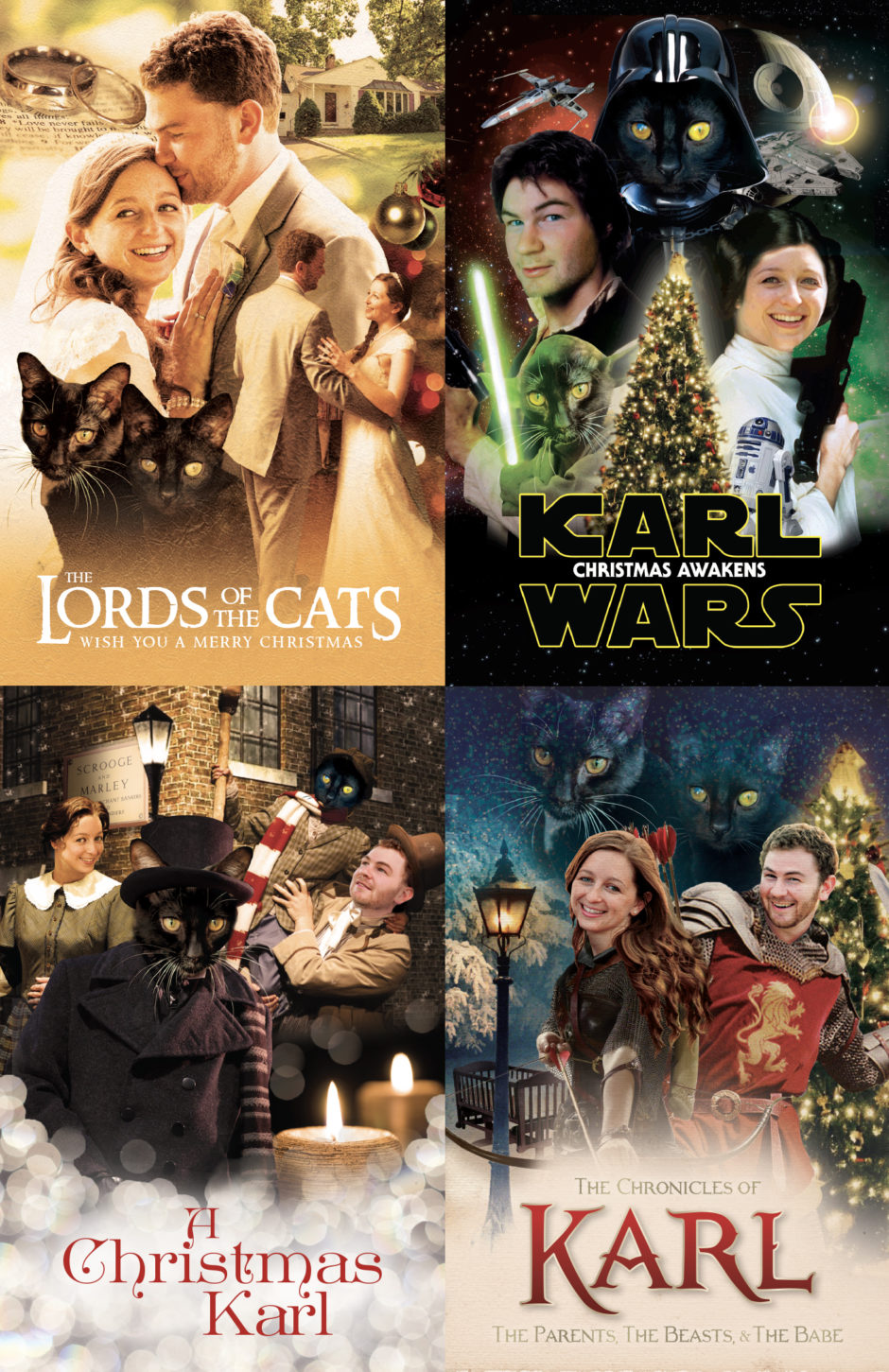 growing business, growing family, Chronicles of Narnia, Christmas Card, Lord of the Rings, Star Wars, A Christmas Carol